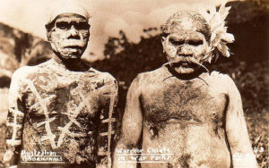 Aborigines wearing war paint... wait, what?