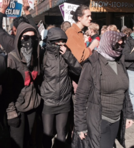 Far-left protestors, Melbourne, 2015.