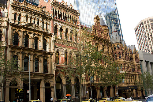 Collins street melbourne photo