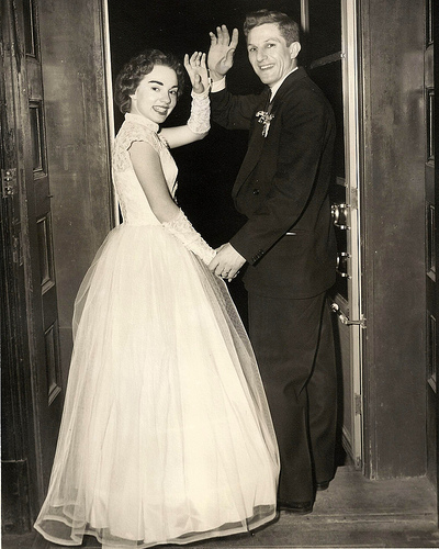 Wedding 1950 photo