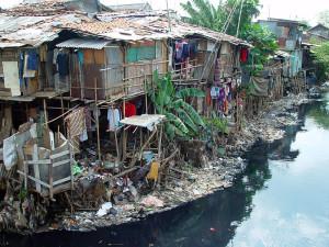 Urban poverty in Jakarta, Indonesia.