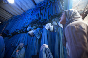 Burqa seller