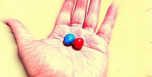 Red pill the matrix photo