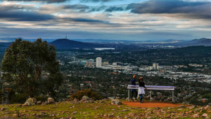 "The Canberra ""skyline"" has often been compared to those of Woollongong and Box Hill."