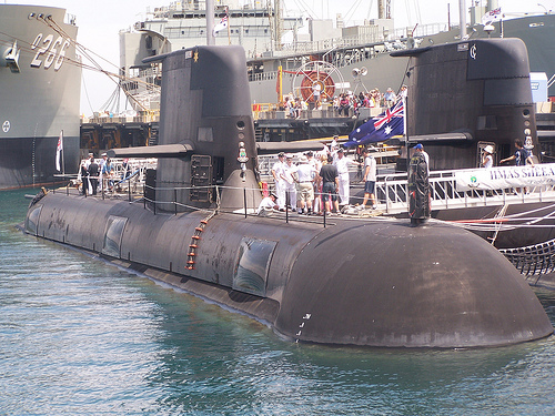 controlling the systems of a collins class submarine