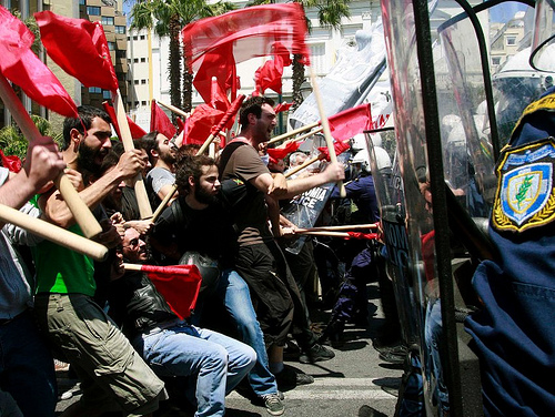 Riot greece photo