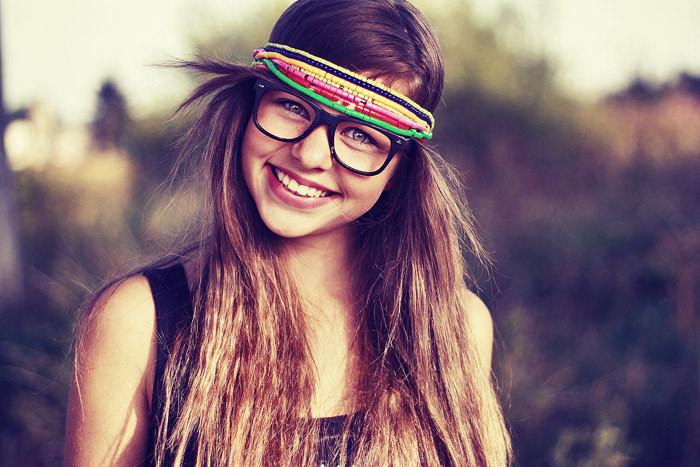 zany hipster chick