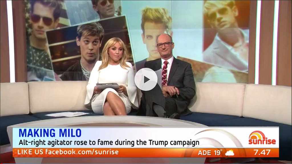 Milo eats Sunrise presenters