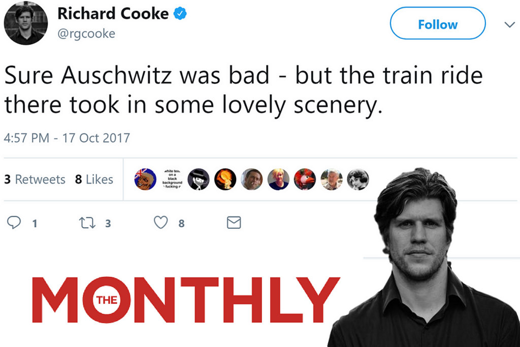 Richard Cooke Twitter Holocaust