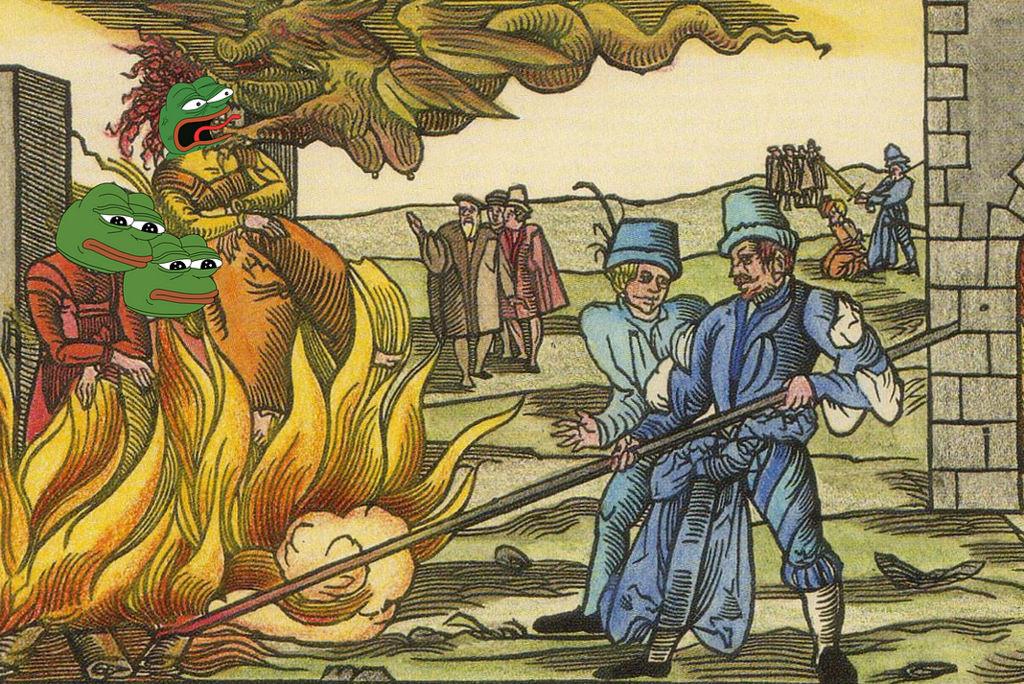 Frog burning