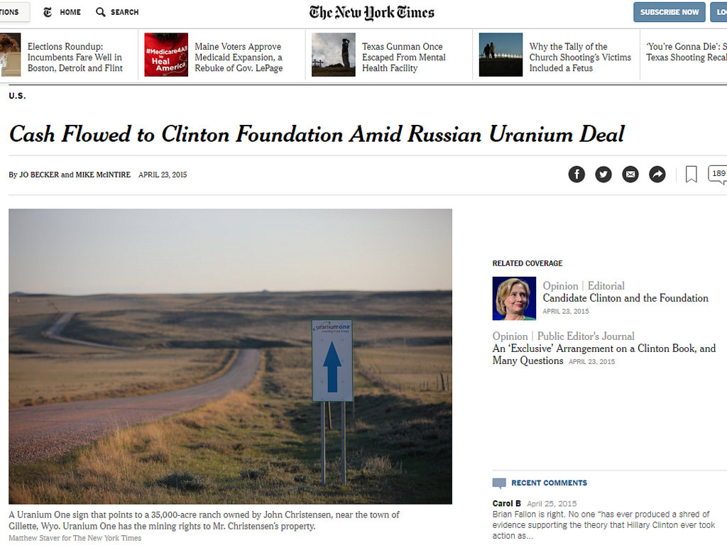 Clinton Foundation Uranium One