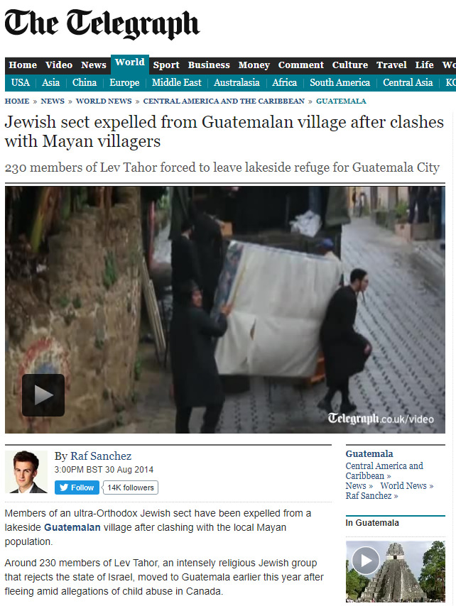 Guatemalan village expels Jews