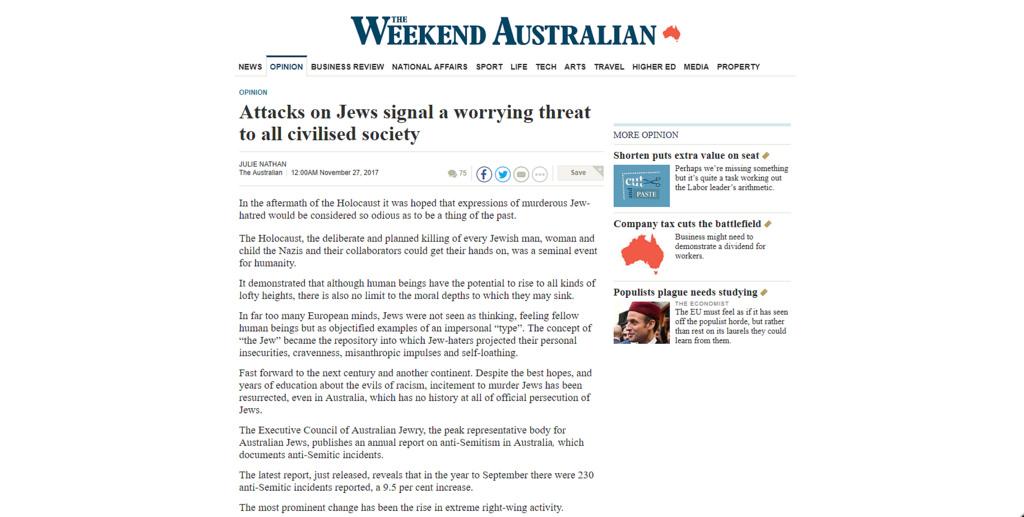 Australian article