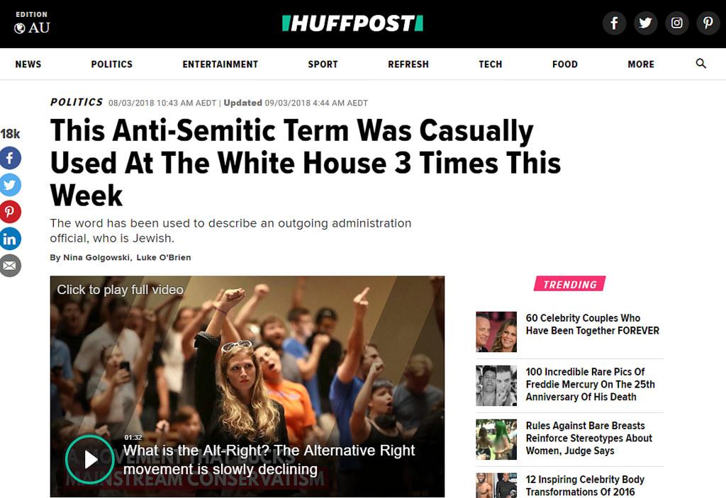 HuffPo Anti-Semitism