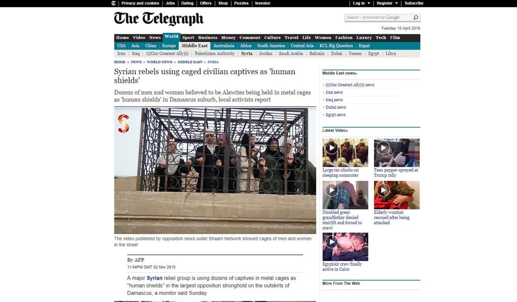 Caged civilians
