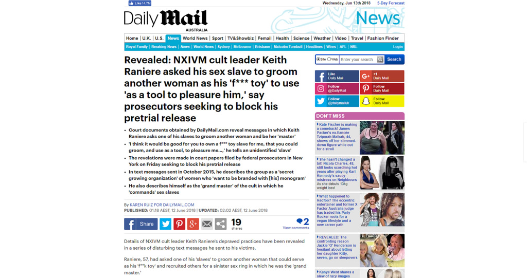 NXIVM sex cult