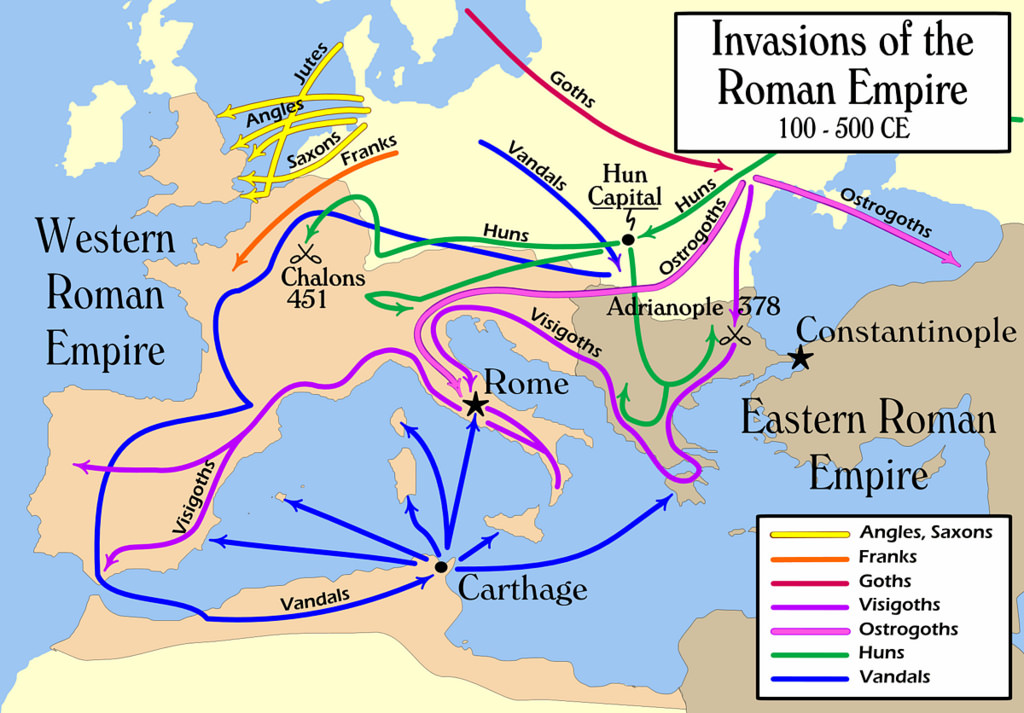 Western Roman Empire invasions
