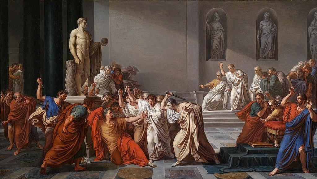 The assassination of Caesar.