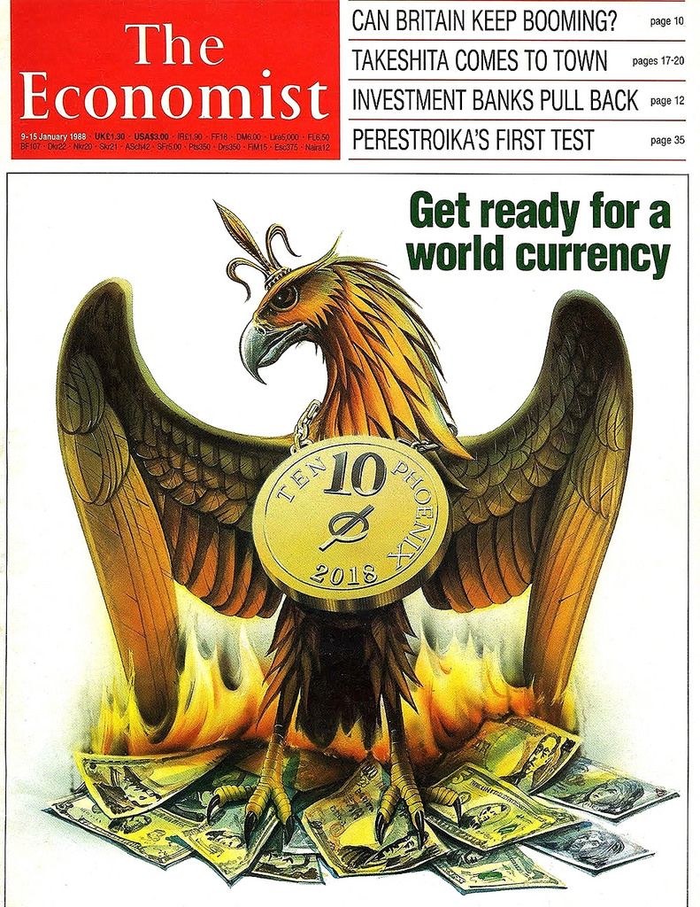 A 1988 cover from The Economist. They knew.