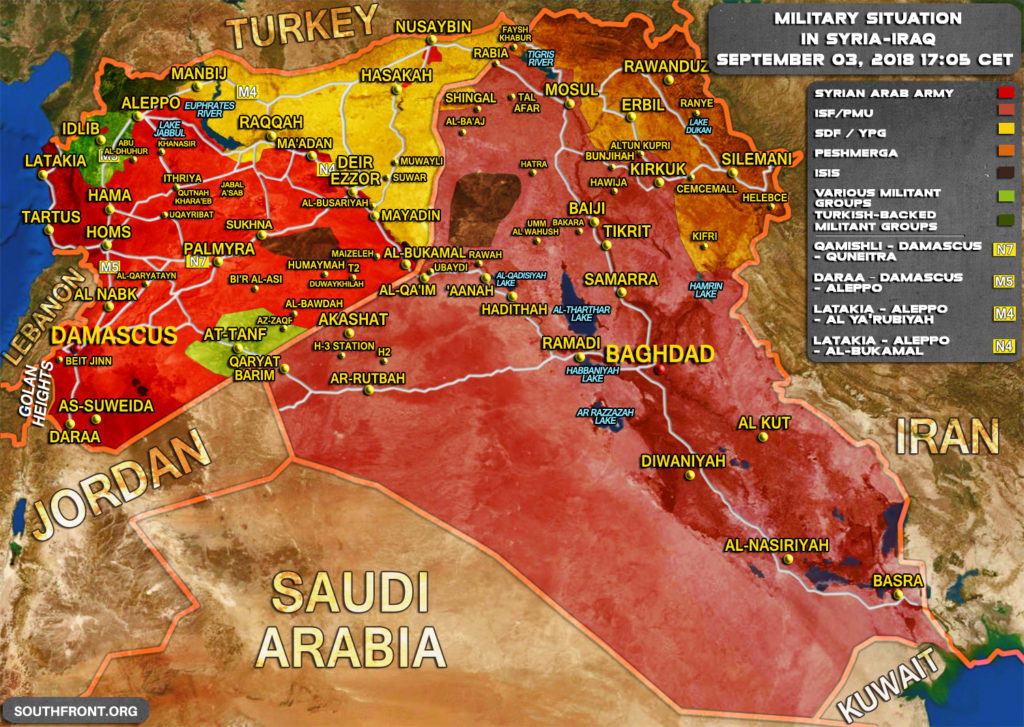 Military situation in Syria 9-18